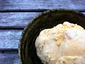 Honey-roasted apricot ice cream